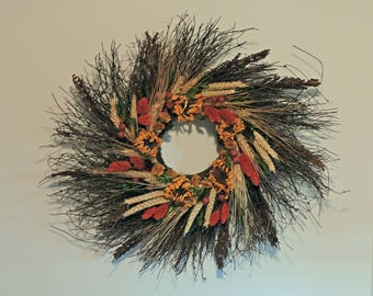 Sunflower Twig Wreath