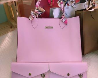 Top Handle Bag - Pink
