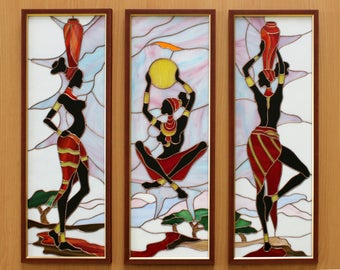 Africa Treasures (tryptich panel)