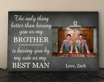 BEST MAN Gift, The Only Thing Better than having you as my BROTHER.., Free Design Proof, Groom to Brother Wedding Gift  to02
