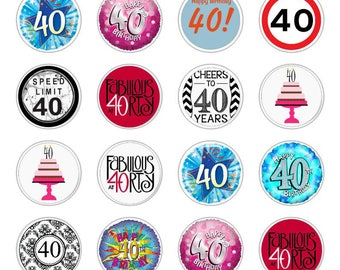 40th Cupcake Toppers Etsy Studio