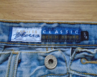 Blue jeans, 80s-90s, Express Bleus, Classic. USED. Size 7/8.