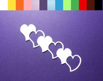 "12 Heart Die Cuts - 4"" Long - Color choice - Cardstock Paper Hearts - Hearts - Embellishments - Scrapbooking - Card Making"