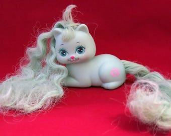 Mattel Vintage Little Pretty Kitty Rosebud 1980s Green
