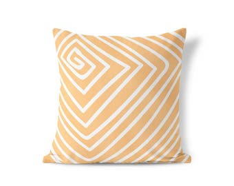 Peach Pillow Sham - Geometric Pillow - Modern Farmhouse - Striped Pillow Sham - Modern Home Decor - Decorative Pillow - Accent Pillow