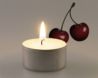 Cherry Scented Vegan Soy Handmade Scented Tealights
