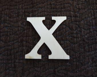 """X"" wood letter"