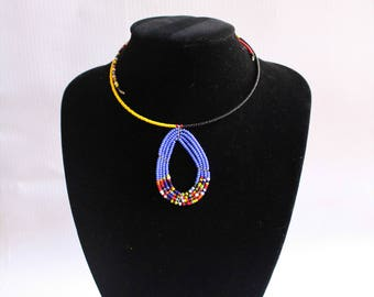 African necklace-African jewelry-African maasai beaded necklace-Tribal necklace-Maasai beaded necklace - Gifts for her-Statement necklace