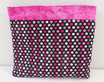 ZIPPERED COSMETIC CASE
