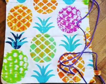 Bag 100% cotton pineapple motif