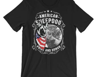 American Sheepdog Pride and Honor Short-Sleeve Unisex T-Shirt