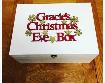 Personalised Wooden Christmas Eve Boxes