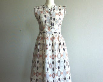 1990 geometric print cotton summer dress
