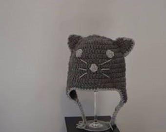 Crochet cat Beanie