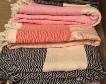 Authentic %100 Turkish  cotton blanket, please choose your color!!!