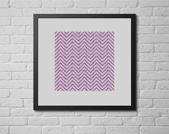 Violet chevron (cross stitch pattern)