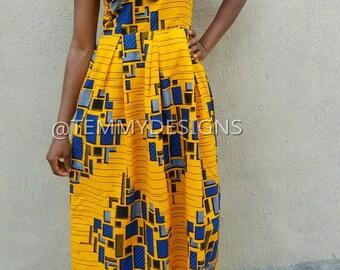 African maxi dress, African dress, Ankara fabric, African clothing, women clothing, African print