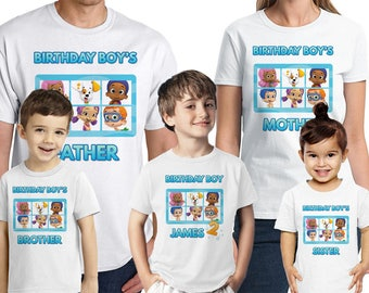 Bubble Guppies Birthday Shirt Custom Bubble Guppies Party T-Shirts Personalized Name and Age