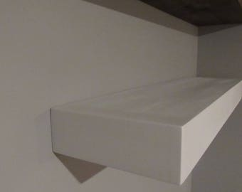 Wooden Corner Floating Shelf