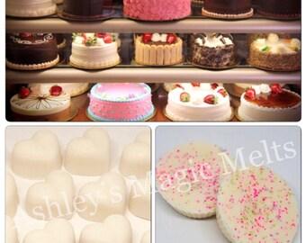Sweet bakery wax melts, food wax melts, wax cubes, strong wax melts, highly scented wax melts, cheap wax melts, wax melt tarts