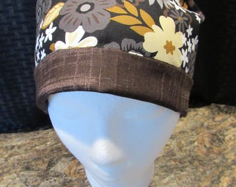 Women's tie back scrub hat