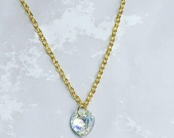 Heart Swaroski crystal necklace
