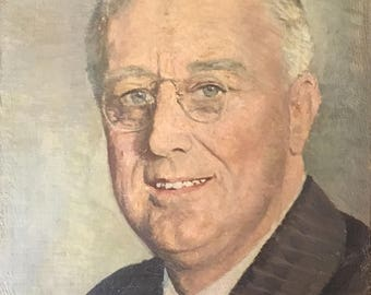 "Vintage Original Signed ""H"" Oil Portrait Painting of a Man"