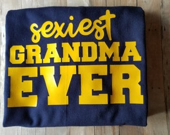 Sexiest Grandma Women's TShirt - Women's Clothing - Grandma Shirt - Grandparent's Clothing - Sexiest Grandma - Hot Grandma - Best Grandma