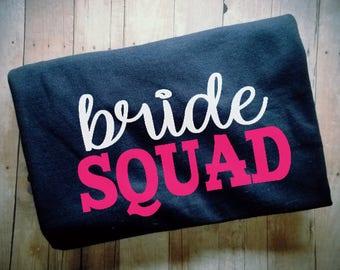Bride Squad TShirt - Bridal Party Clothing - Bachelorette Party Attire - Bridal Party Clothes - Bridesmaid Shirt - Maid of Honor Shirts -