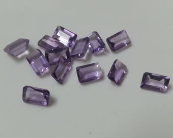 Natural Amethyst Faceted 6x4mm Octagon Beads, Amethyst Faceted Octagon Bead, Loose Amethyst Bead, Loose Octagon Bead, Amethyst Octagon