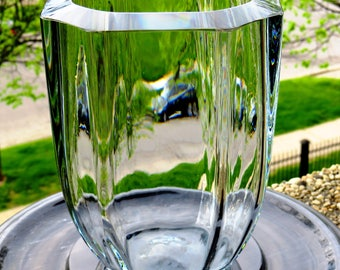 Swedish/Scandinavian-Art Glass Vase- Strombergshyttan Vase-1950's-Light bluish glass-Simple, Modern, timeliness