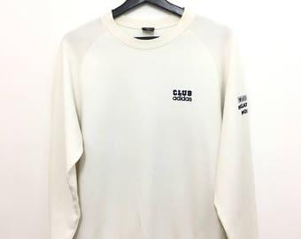 Vintage CLUB ADIDAS Masatoshi Mori White Color