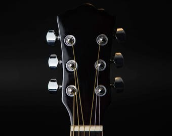 Guitar Head Photographic Print