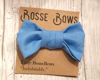 Clip on Bow tie| Baby bow tie | Blue bow tie| Baby boy bow tie | baby bowtie|Gender reveal | Toddler bow tie| Baby accessory | Ringbear
