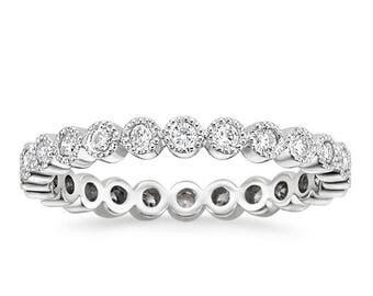 diamond eternity band, Rose Gold Eternity Diamond Ring, Diamond Eternity Ring, Wedding Diamond Ring, Engagement Ring, Diamond Eternity Band