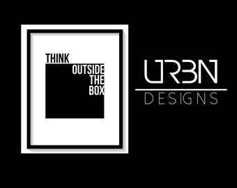 Think outside the box Printable, Digital Print