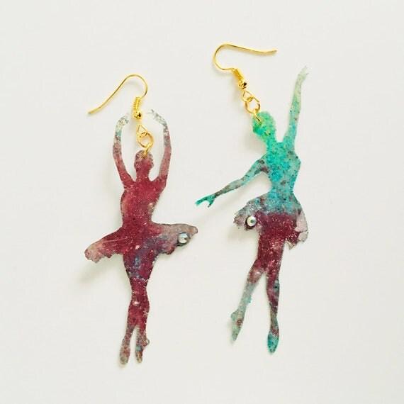 Dancers earrings - Dancer drops earrings - Trending dance jewelry - Dancing girls jewelry - Rockabilly Jewelry - Novelty ballet earrings