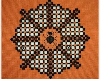 Hardanger embroidery - Eek! Spider's web