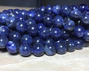 8mm Full Strand AAA African Sodalite Gemstone Round 8mm Loose Beads 15.5 inch Full Strand, Sodalite Beads, Sodalite