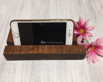 Wood Phone Stand Iphone Ipad Tablet Cell Smartphone Decorative Accessories Charging Docking Station Display Dock Woodgrain