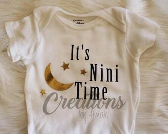 It's Nini Time Baby Onesie