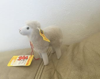 Vintage Steiff Stuffed Lamb - Flori plush sheep 1978 - 1987