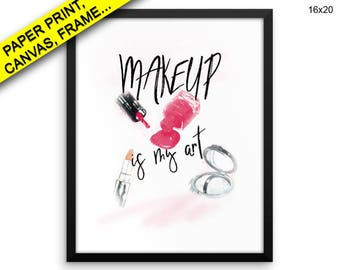 Makeup Wall Art Framed Makeup Canvas Print Makeup Framed Wall Art Makeup Poster Makeup Fashion Art Makeup Fashion Print Makeup vanity print