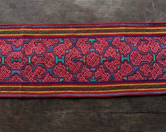 Red Shipibo Table Runner