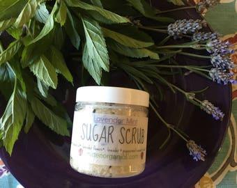 Organic Lavender Mint Sugar Scrub- 4oz