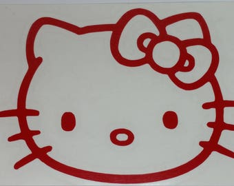 Hello Kitty head Vinyl Decal