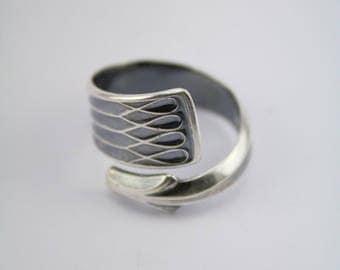 "Handmade Norwegian Silverspoon Ring ""Arvesølv"""