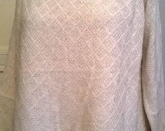 Sweater sleeves long ecru color