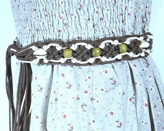 Belt - Hand Crafted Belt - Belly with mussels -  Ladies belt