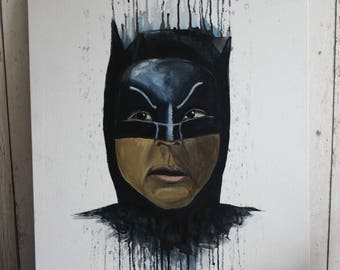 Adam West Batman Painting - Original one of a kind hand painted on canvas